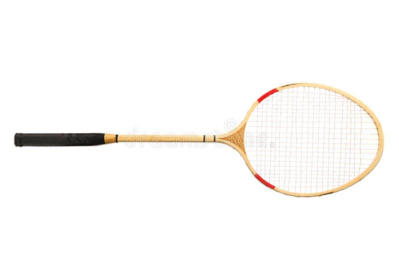 En racket, badminton royaltyfri fotografi