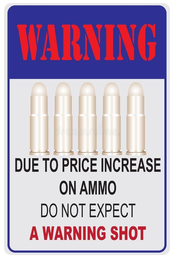 En raison de la hausse du prix sur des munitions illustration de vecteur