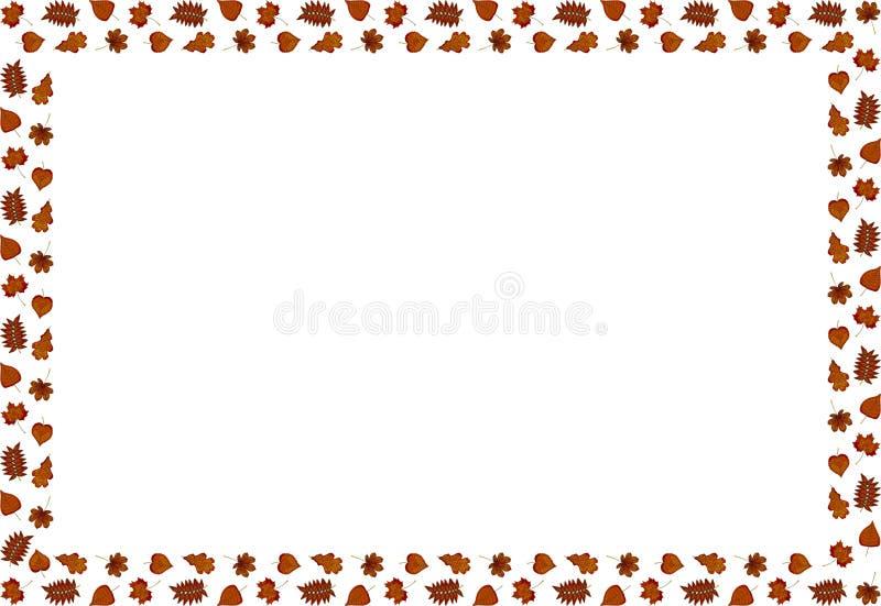 En ram av höstsidor vektor royaltyfri illustrationer