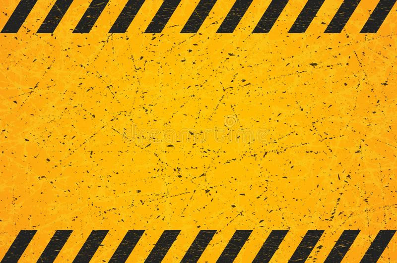 En randig rektangel för sliten svart Skrapat tomt varningstecken också vektor för coreldrawillustration vektor illustrationer