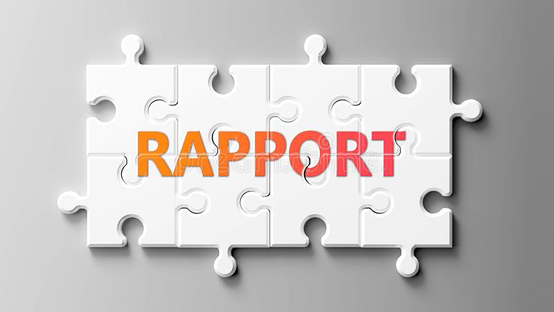 En rapport som är komplex som ett pussel - som kan ses som en rapport om ett pussel för att visa att rapporten kan vara svår och  vektor illustrationer
