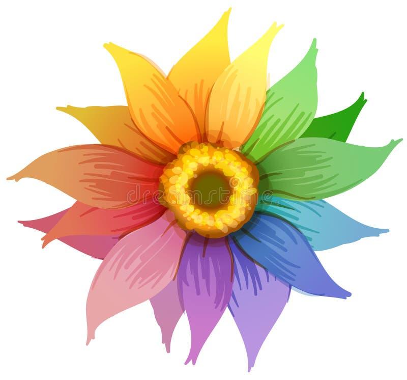 En regnbågeblomma vektor illustrationer