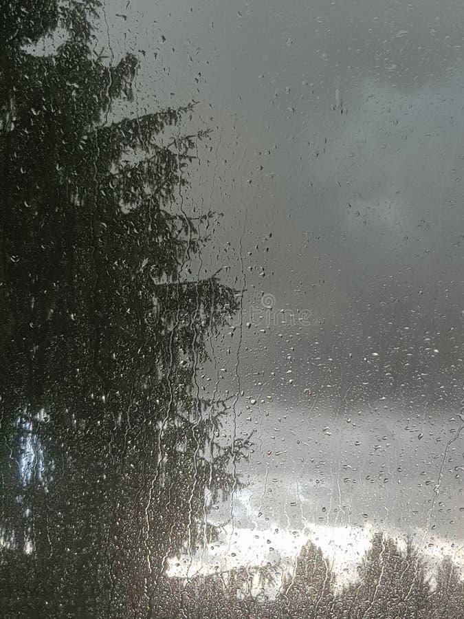 En regnig dag och en hög temperatur arkivbilder