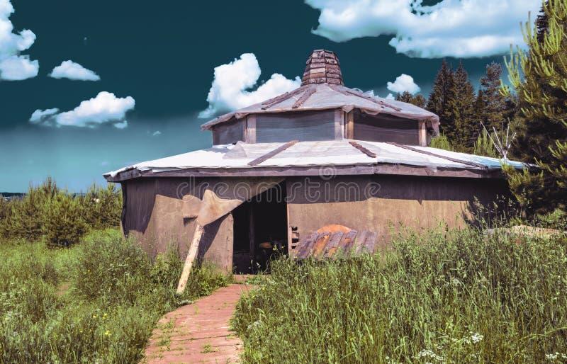 En reproduktionsvigvam av en nationell boning för injun arkivbild