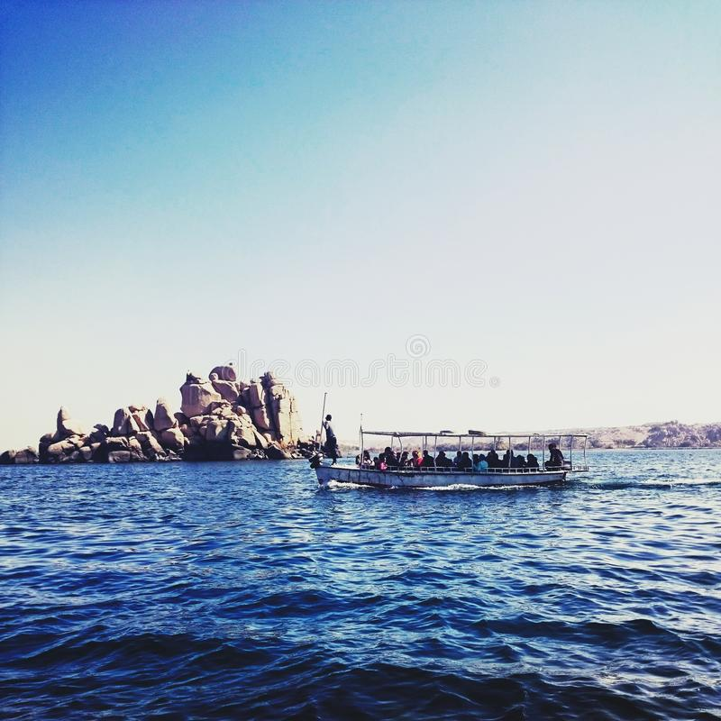 En resa i Nilen arkivbilder