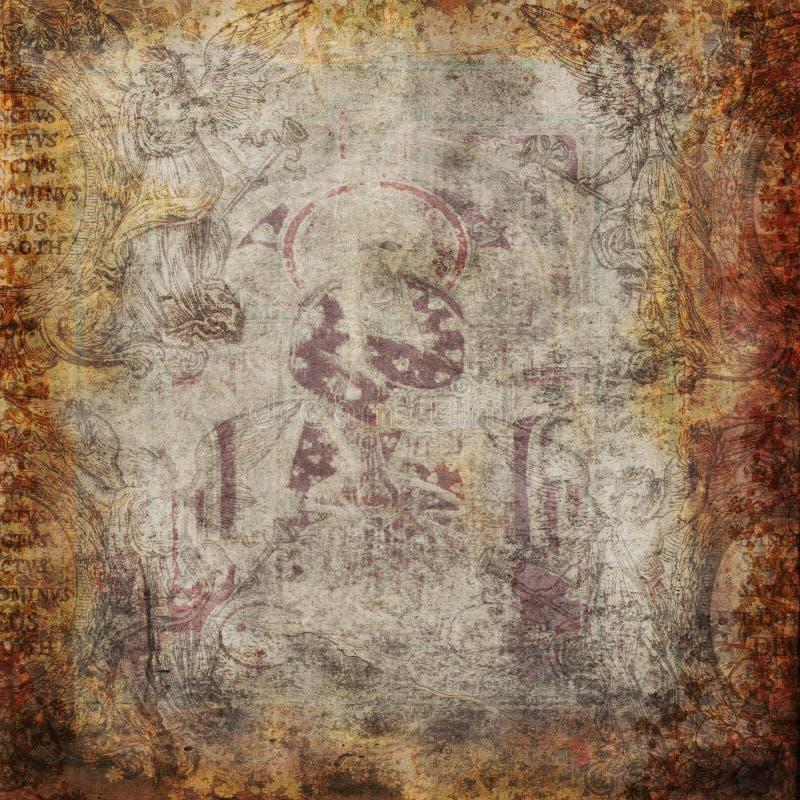 Grungy bakgrund för antik tappning royaltyfri illustrationer
