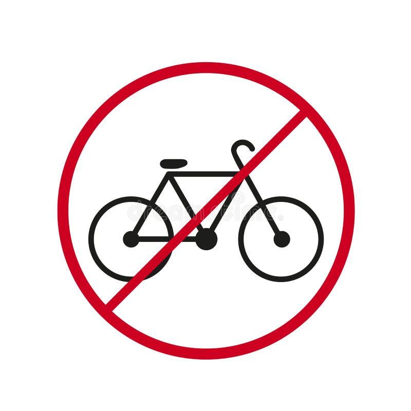 En ritt för dander för stopp för Bicycke cykelsymbol royaltyfri illustrationer