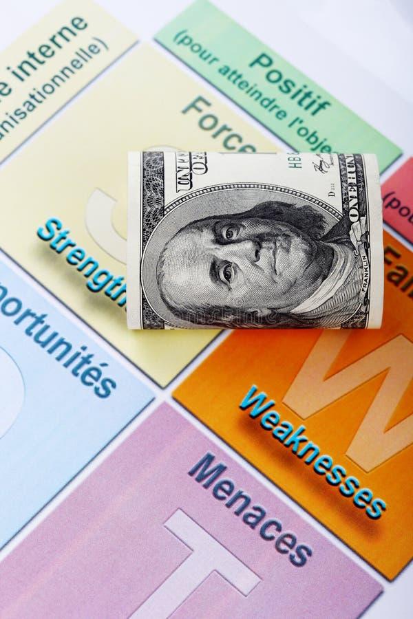 En rullade hundra analys för dollarbill och plugghäst arkivfoton