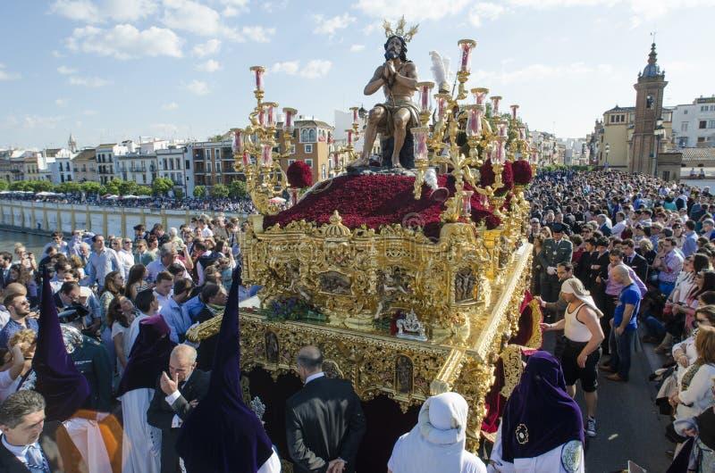 En Séville de semaine sainte images libres de droits