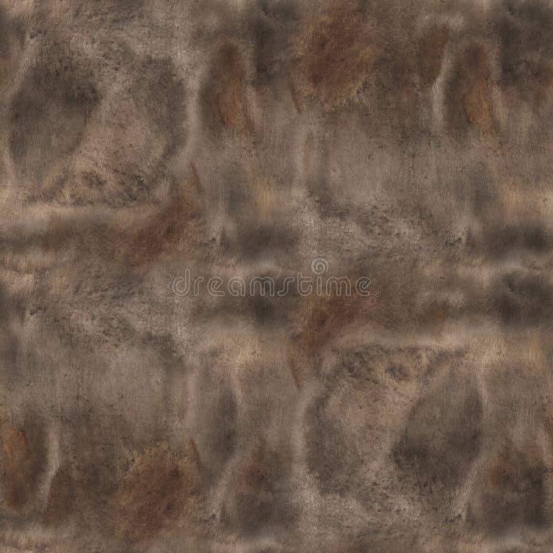 En sömlös gammal pappers- textur: ett ark av papper som tonas och målas med kaffe och vattenfärgen för att se som gammalt pergame royaltyfri illustrationer