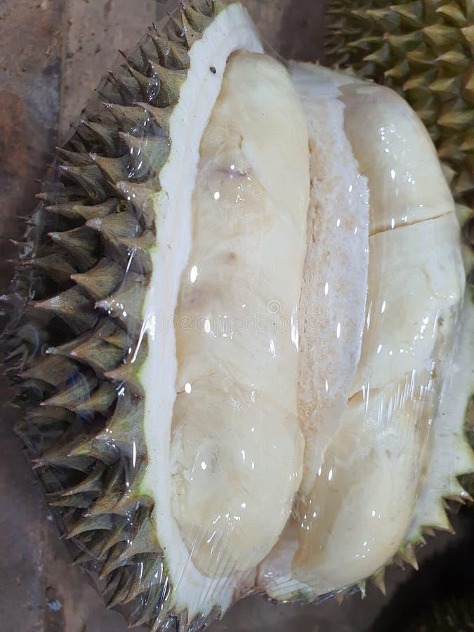 en söt och lukt av duriansk frukt från Palembang Indonesia arkivfoton