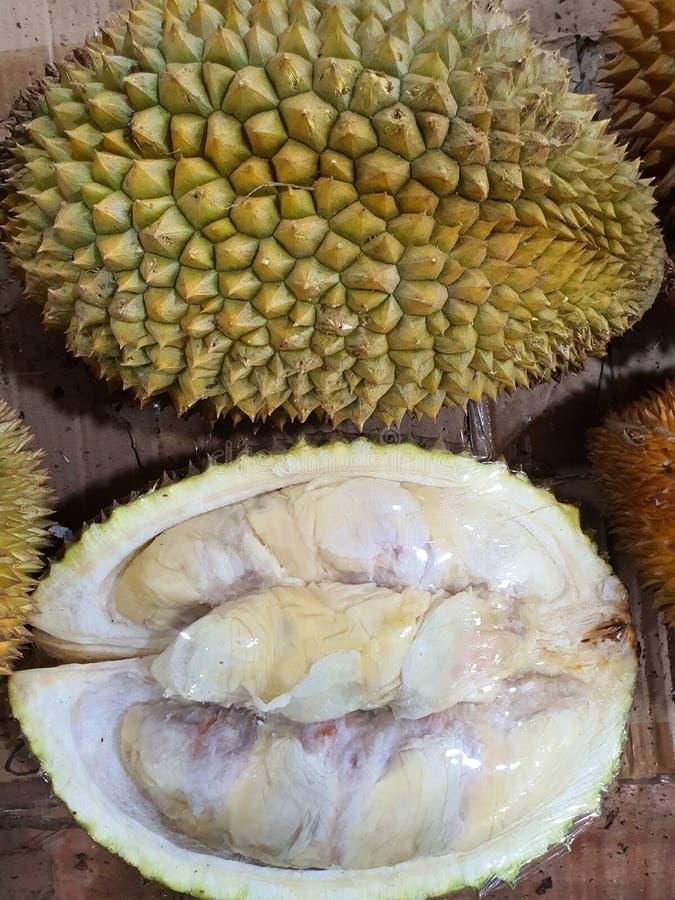 en söt och lukt av duriansk frukt från Palembang Indonesia royaltyfri fotografi