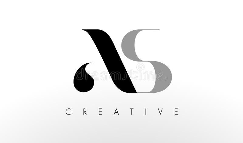 En s-bokstav Logo Design Idérikt SOM bokstavssymbol royaltyfri illustrationer