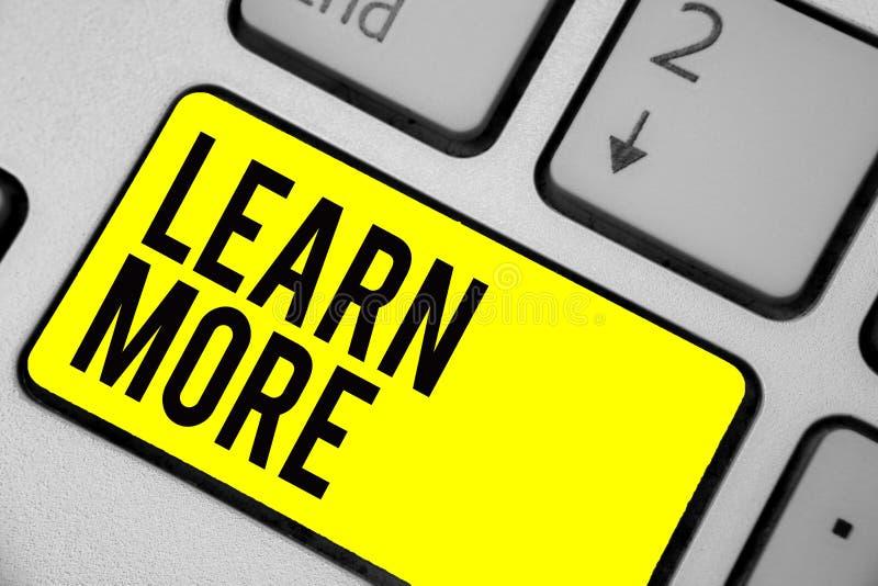 En savoir plus des textes d'écriture de Word Concept d'affaires pour la connaissance Deepen de la chose que vous voulez faire ou  illustration de vecteur