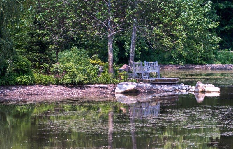 En scenisk fläck på sjön arkivfoto