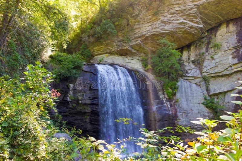 En scenisk vattenfall i virginia royaltyfri fotografi