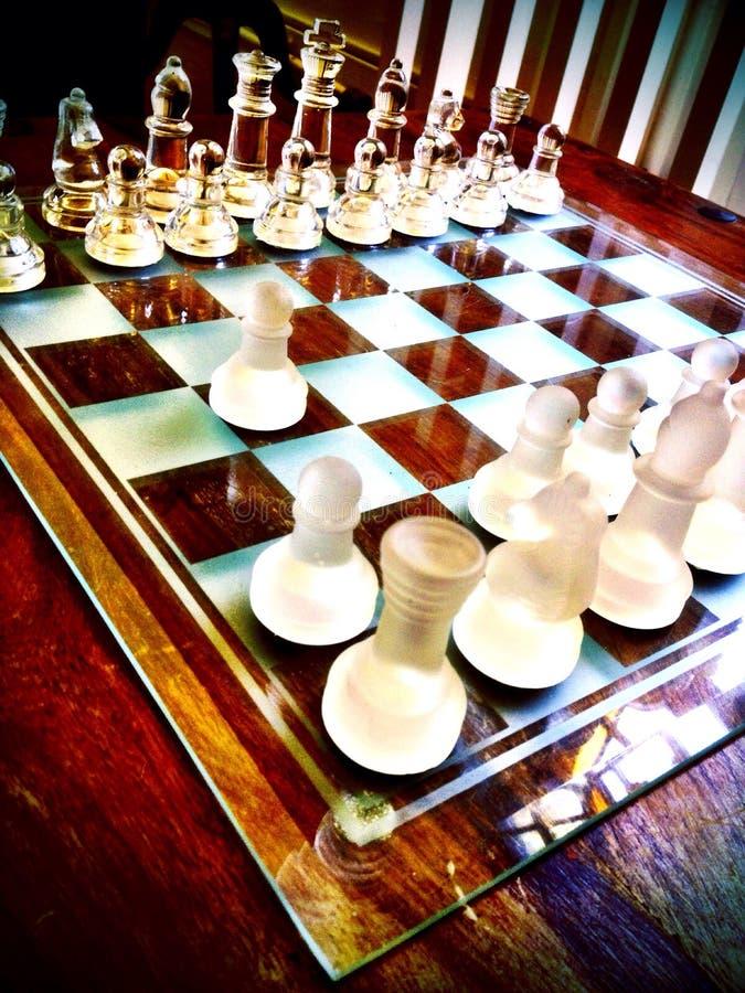 En schackuppsättning royaltyfri foto