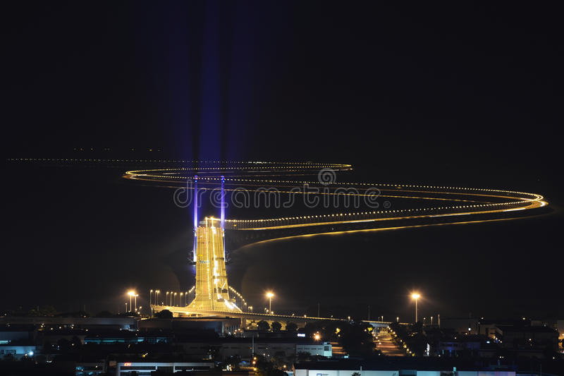 En segundo lugar puente de Penang fotografía de archivo