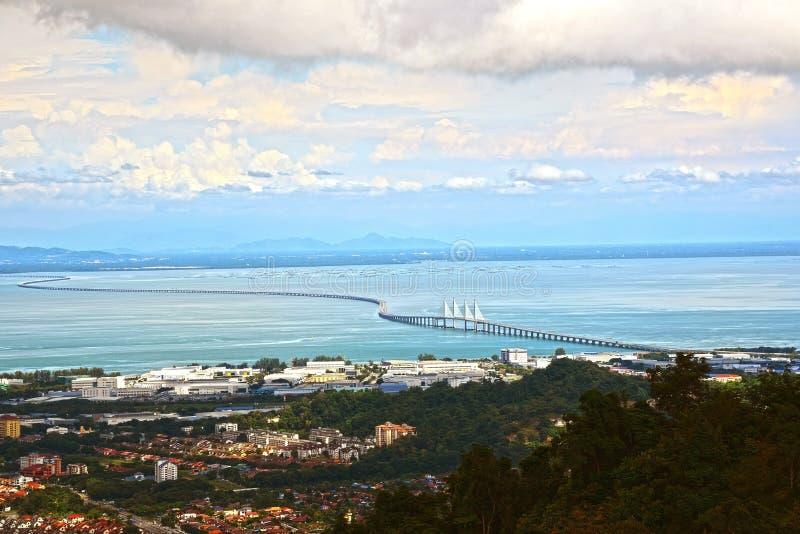 En segundo lugar puente de Penang fotos de archivo libres de regalías