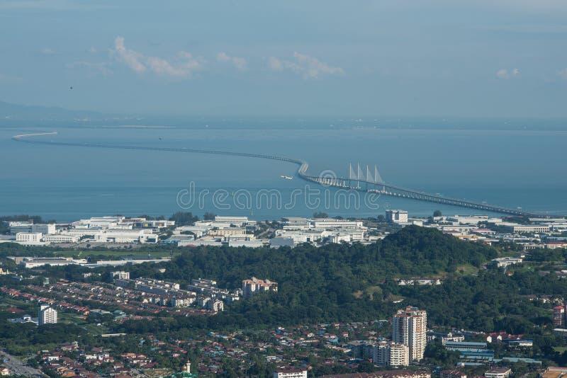 En segundo lugar puente de Penang imagenes de archivo
