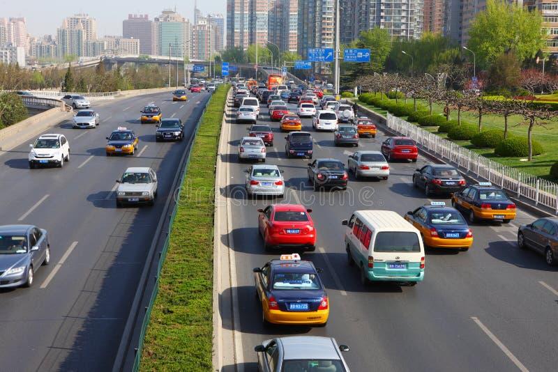 En segundo lugar Ring Road en Pekín fotografía de archivo libre de regalías