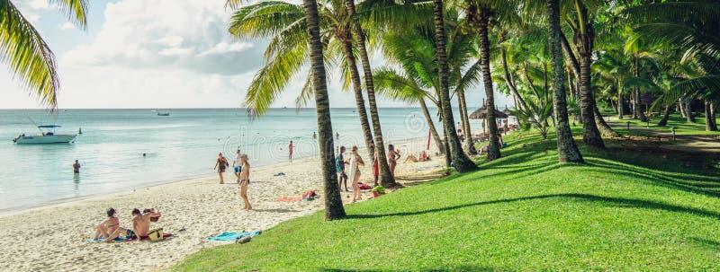En semesterort på havet i Mauritius fotografering för bildbyråer