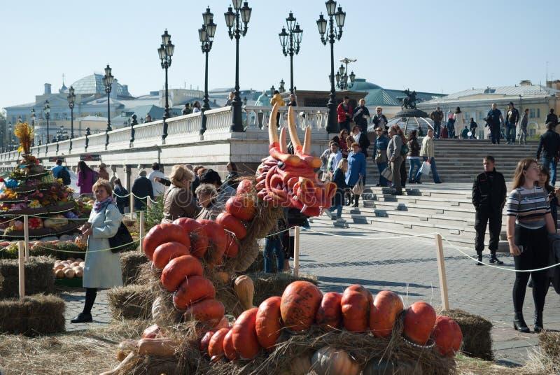 En septiembre de 2017, Moscú, Rusia Las festividades en el Manege ajustan durante el ` de oro del otoño del ` del festival fotografía de archivo libre de regalías