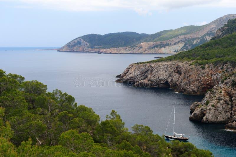 En Serra de Cala d en Ibiza foto de archivo libre de regalías