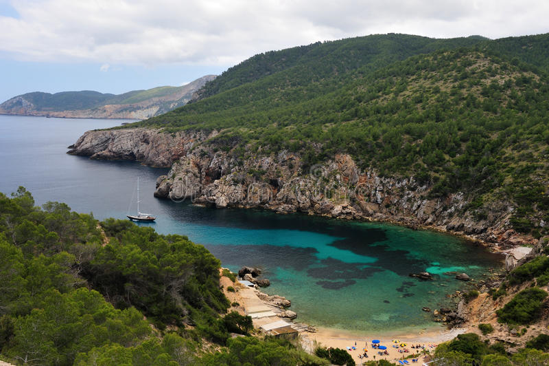 En Serra de Cala d en Ibiza fotos de archivo libres de regalías