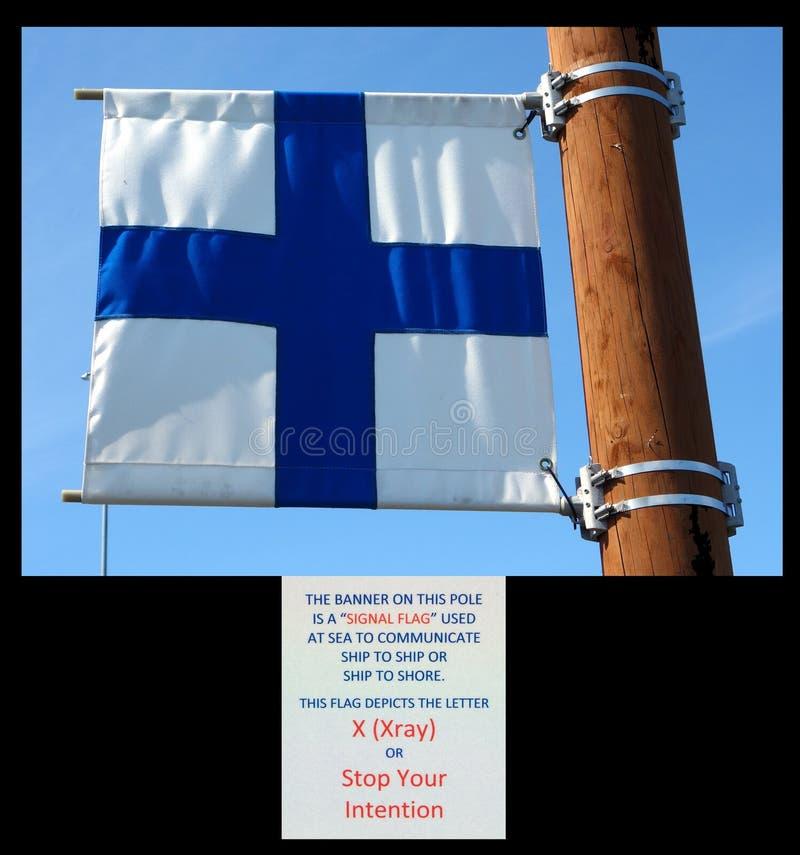 en signalflagga på homeren alaska royaltyfri fotografi