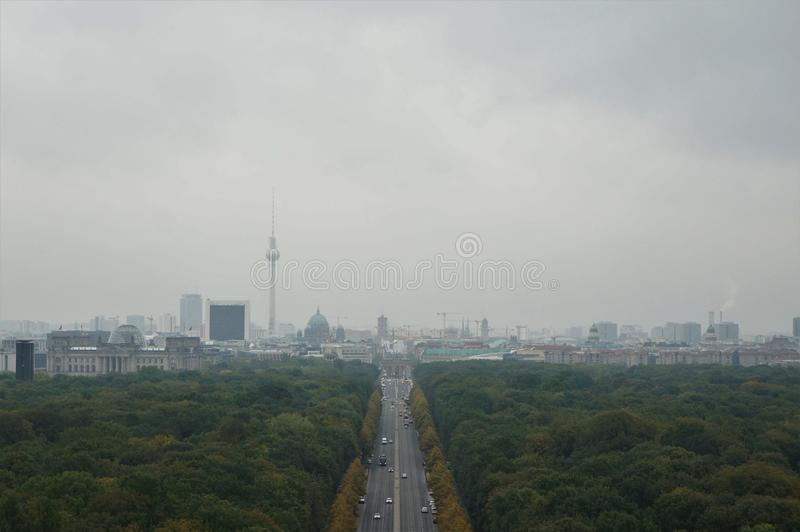 En sikt av Berlin arkivfoto