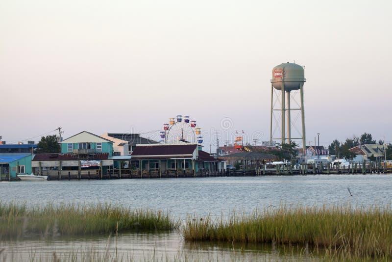 En sikt av Chesapeakefjärden fotografering för bildbyråer