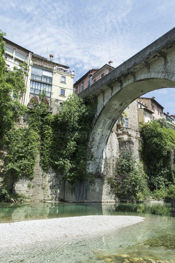 En sikt av Cividale del Friuli arkivbild