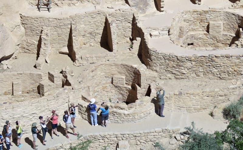 En sikt av Cliff Palace, Mesa Verde National Park royaltyfri bild