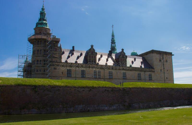 En sikt av den Kronborg slotten fotografering för bildbyråer