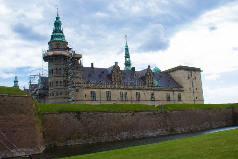 En sikt av den Kronborg slotten royaltyfri bild