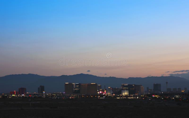 En sikt av den Las Vegas remsan som ser norr arkivfoton