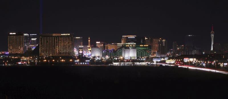 En sikt av den Las Vegas remsan som ser norr royaltyfri bild