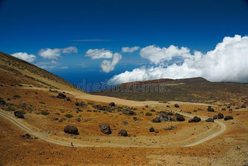 En sikt av `en för `-Teide ägg på den Teide nationalparken i Tenerife, Spanien royaltyfri bild