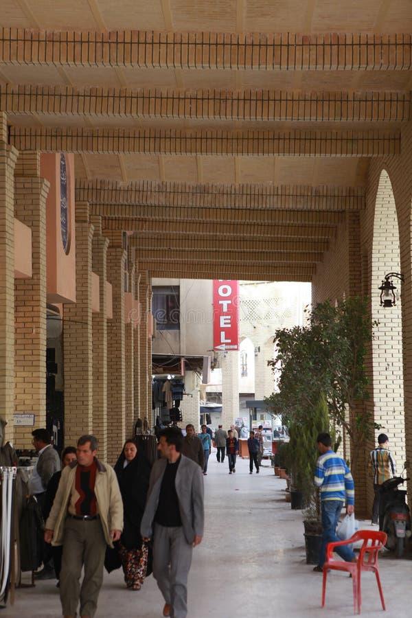 En sikt av Erbil, Irak royaltyfria foton