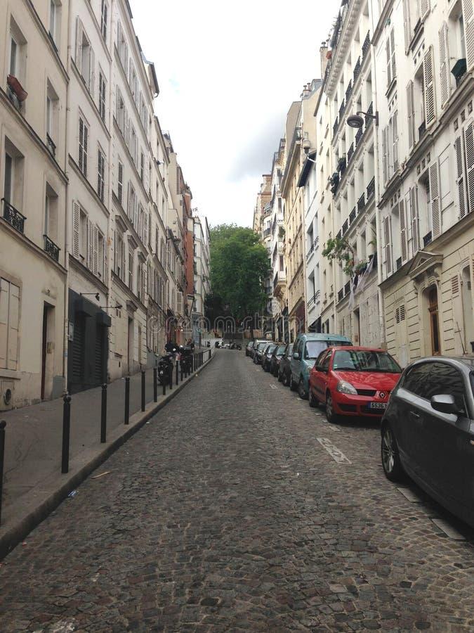 En sikt av gatan arkivfoto