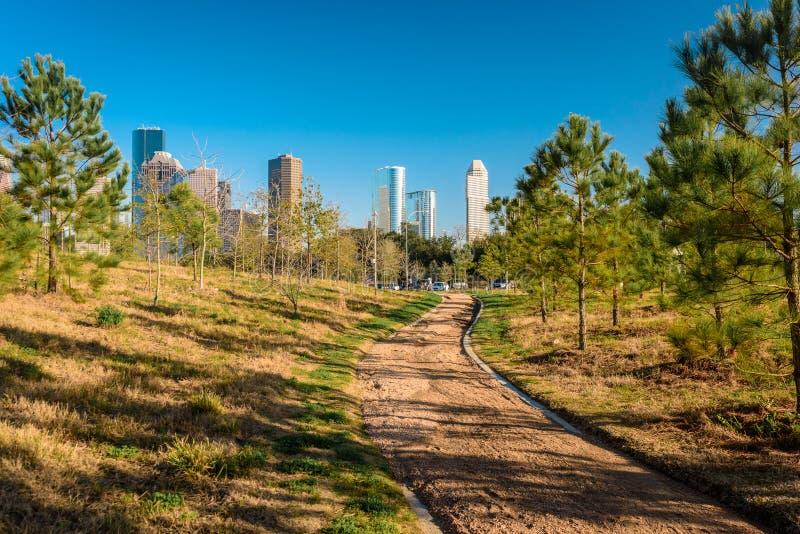 En sikt av i stadens centrum Houston arkivfoto