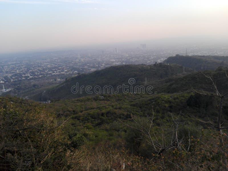 En sikt av Islamabad arkivbild