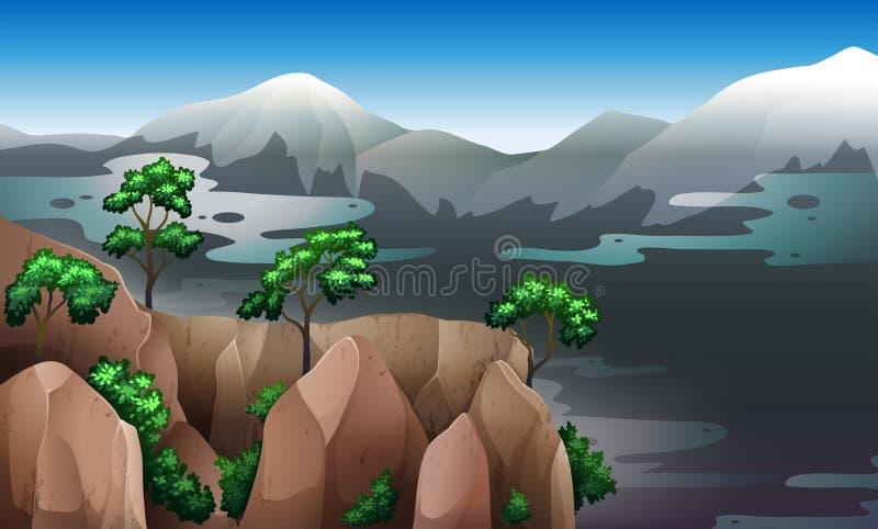 En sikt av naturresurserna vektor illustrationer
