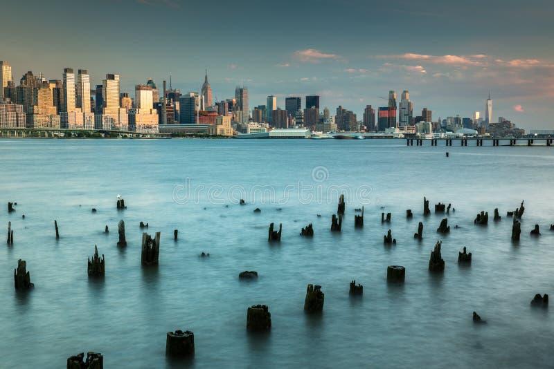 En sikt av New York royaltyfria foton