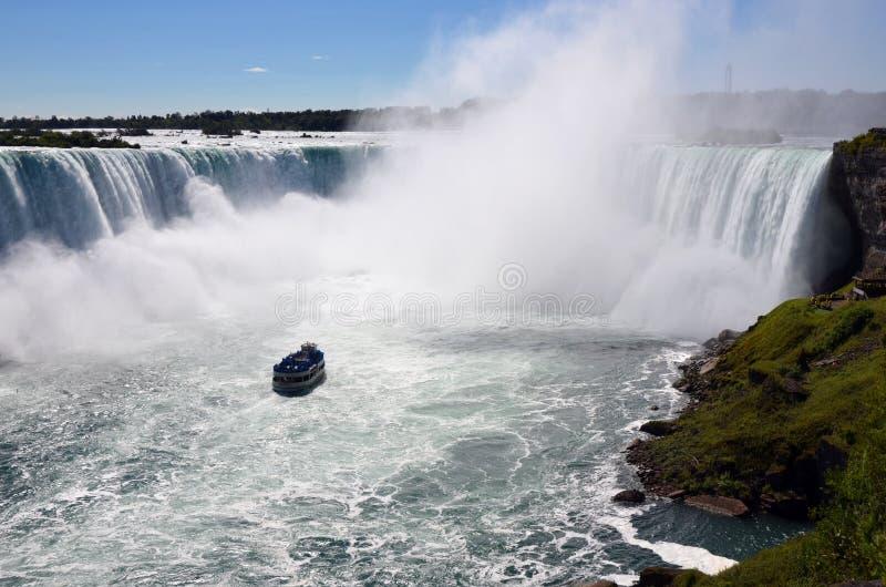 En sikt av Niagara Falls arkivfoton