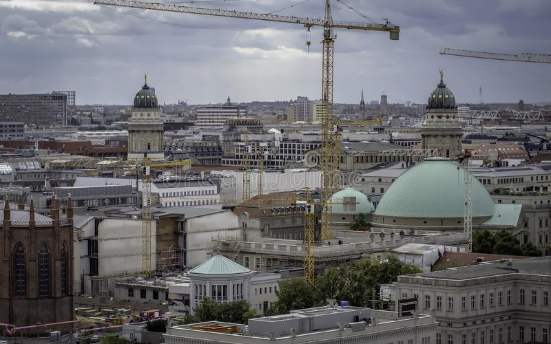 En sikt för öga för fågel` s av Berlin arkivfoto
