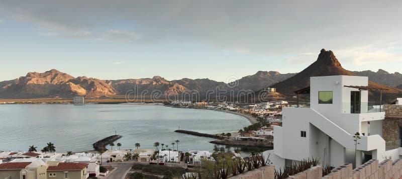 En sikt för ottaLos Algodones från Mirador utkik, San Ca arkivfoton