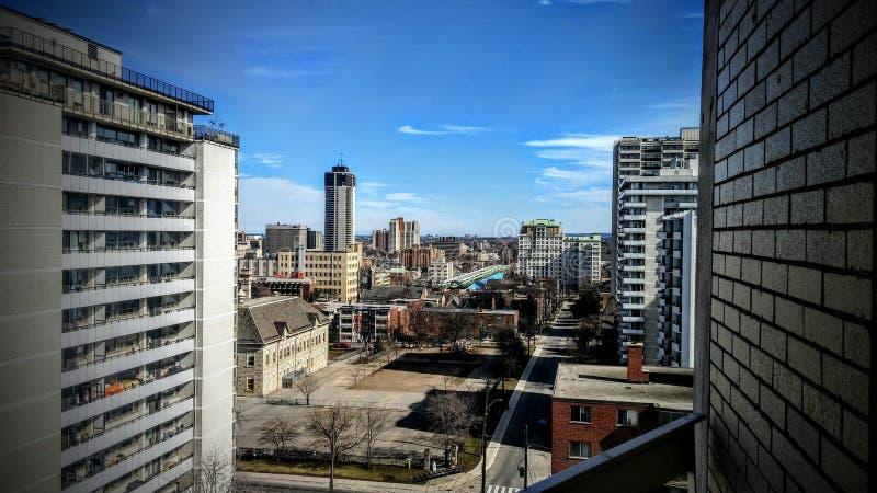 En sikt från balkongen royaltyfri bild