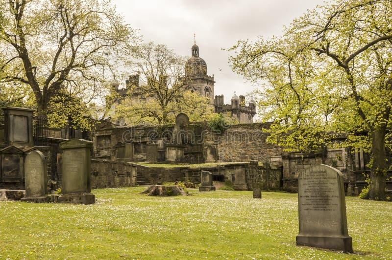 En sikt från Greyfriars Kirkyard arkivfoto